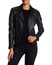 Doma Leather - Embroidered Moto Jacket - Lyst