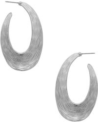 Karine Sultan - Textured 31mm Hoop Earrings - Lyst