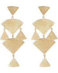 Elizabeth and James - Wren Ridged Geometric Chandelier Earrings - Lyst