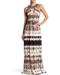 Sky - Bouchra Snakeskin Print Beaded Dress - Lyst