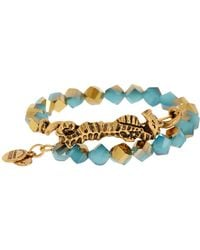 ALEX AND ANI - Beaded Seahorse Wrap Bracelet - Lyst