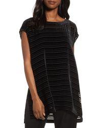 Eileen Fisher - Velvet Stripe Burnout Tunic - Lyst