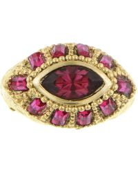 1928 - Swarovski Elements Crystal Embellished Oval Ring - Size 8 - Lyst