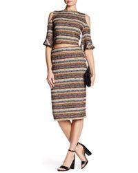 BCBGeneration   Striped Rib-knit Pencil Skirt   Lyst