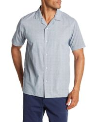 Velvet By Graham & Spencer - Front Button Print Classic Fit Woven Shirt - Lyst