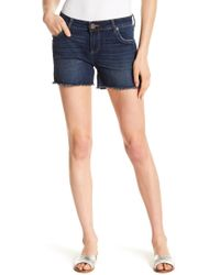Kut From The Kloth - Gerri Frayed Shorts - Lyst