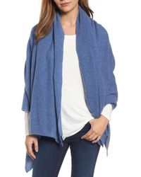 Halogen - Waffle Knit Cashmere Wrap - Lyst