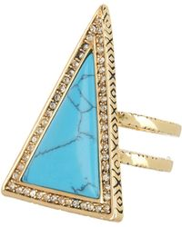 House of Harlow 1960 - Turquoise Triangle Theorem Ring - Size 6 - Lyst
