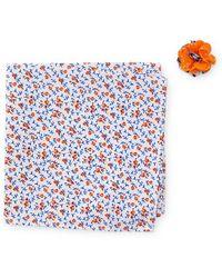 Original Penguin - Mcneill Floral Pocket Square & Mixed Print Lapel Pin Set - Lyst