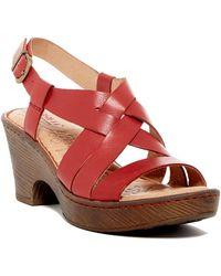 Born - Carmo Leather Slingback Platform Sandal - Lyst