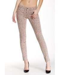 Level 99 - Janice Ultra Skinny Printed Pants - Lyst