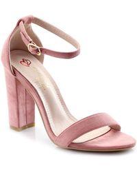 Elegant Footwear - Fiora Suede Ankle Strap Block Heel - Lyst