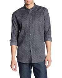 John Varvatos - Print Pintuck Stitched Trim Fit Shirt - Lyst