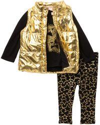 Juicy Couture - Star Tee, Metallic Vest & Star Print Leggings Set (baby Girls) - Lyst