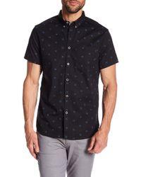 Kenneth Cole - Windowbox Print Short Sleeve Regular Fit Shirt - Lyst