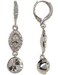 Givenchy - Double Drop Crystal Earrings - Lyst