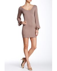 Sky - Liyah Metallic Cuff Dress - Lyst