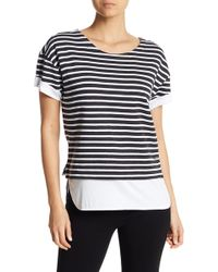 Marc New York - Striped Contrast Tee - Lyst