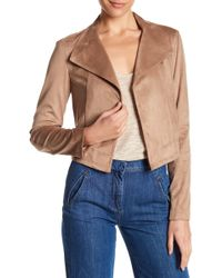 1.STATE - Cropped Faux Suede Jacket - Lyst