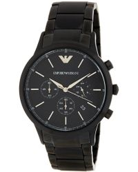 Emporio Armani - Men's Chronograph Bracelet Watch, 43mm - Lyst