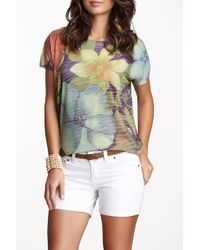 Go Couture - Short Sleeve Printed Tee - Lyst