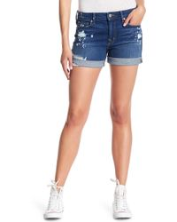 Level 99 - Megan Cuffed Denim Shorts - Lyst