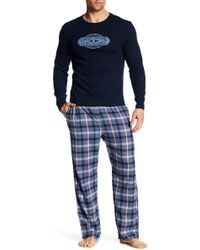 Lucky Brand - Long Sleeve Thermal & Flannel Pants - Lyst