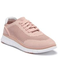 Vionic - Joey Leather Perforated Trainer - Lyst