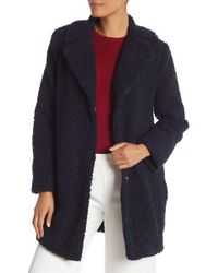 Cece by Cynthia Steffe - Faux Shearling Front Button Jacket - Lyst