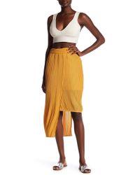 Elliatt - Marigold Asymmetrical Pleated Skirt - Lyst