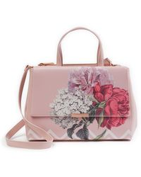 Ted Baker - Tecoma Palace Garden Leather Tote Bag - Lyst
