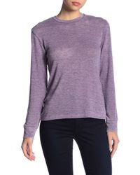 Go Couture - Long Sleeve Crew Tee - Lyst