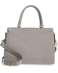 Treasure & Bond - Small Logan Croc Embossed Leather Satchel - Lyst