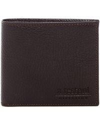 A.Testoni - Bifold Leather Wallet - Lyst
