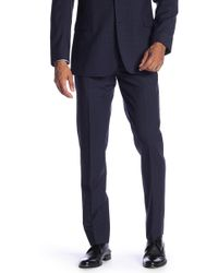 """Brooks Brothers - Navy Plaid Wool Classic Fit Separates Trousers - 30-34"""" Inseam - Lyst"""