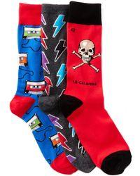 Socksmith - Graphic Socks - Pack Of 3 - Lyst