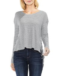 Two By Vince Camuto - Lace-up Side Stripe Top - Lyst