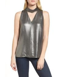 Trouvé - Choker Collar V-neck Tank - Lyst