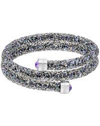 Swarovski - Crystal Dust Studded Crystal Wrap Around Bracelet - Lyst