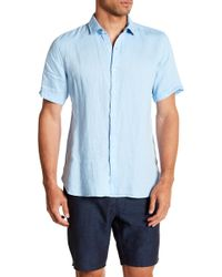 Tocco Toscano - Short Sleeve Solid Woven Shirt - Lyst