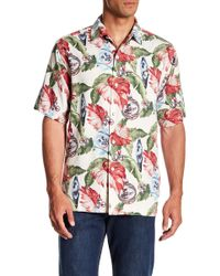 Tommy Bahama - With Bells On Short Sleeve Silk Original Fit Shirt - Lyst