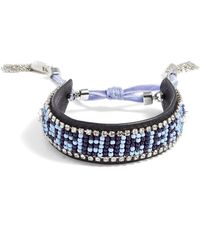 Rebecca Minkoff - Dreamer Seed Bead Leather Bracelet - Lyst