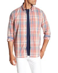 Tailor Vintage - Plaid Long Sleeve Stretch Fit Shirt - Lyst