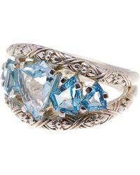 Stephen Dweck - Sterling Silver Freeform Blue Topaz Cutout Ring - Size 7 - Lyst
