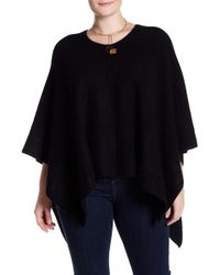 NAKEDCASHMERE - Hillary Textured Cashmere Poncho (plus Size) - Lyst
