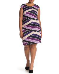 Vince Camuto - Printed Scuba Sheath Dress (plus Size) - Lyst