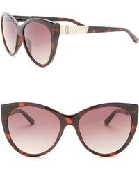 Guess - 57mm Cat Eye Sunglasses - Lyst