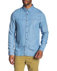 Native Youth - Adriatic Chambray Trim Fit Shirt - Lyst