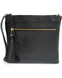 Halogen - (r) Tasseled Leather Crossbody Bag - Lyst