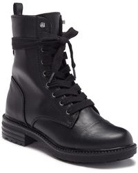 Report - Nina Lace-up Combat Bootie - Lyst